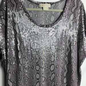 🌸 Michael Kors purple snake skin dress